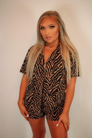 Animal print lounge set
