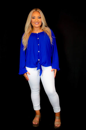 Sapphire Inspired Blouse