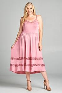 Plus size pink dress