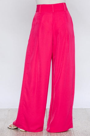 High waist palazzo in pink