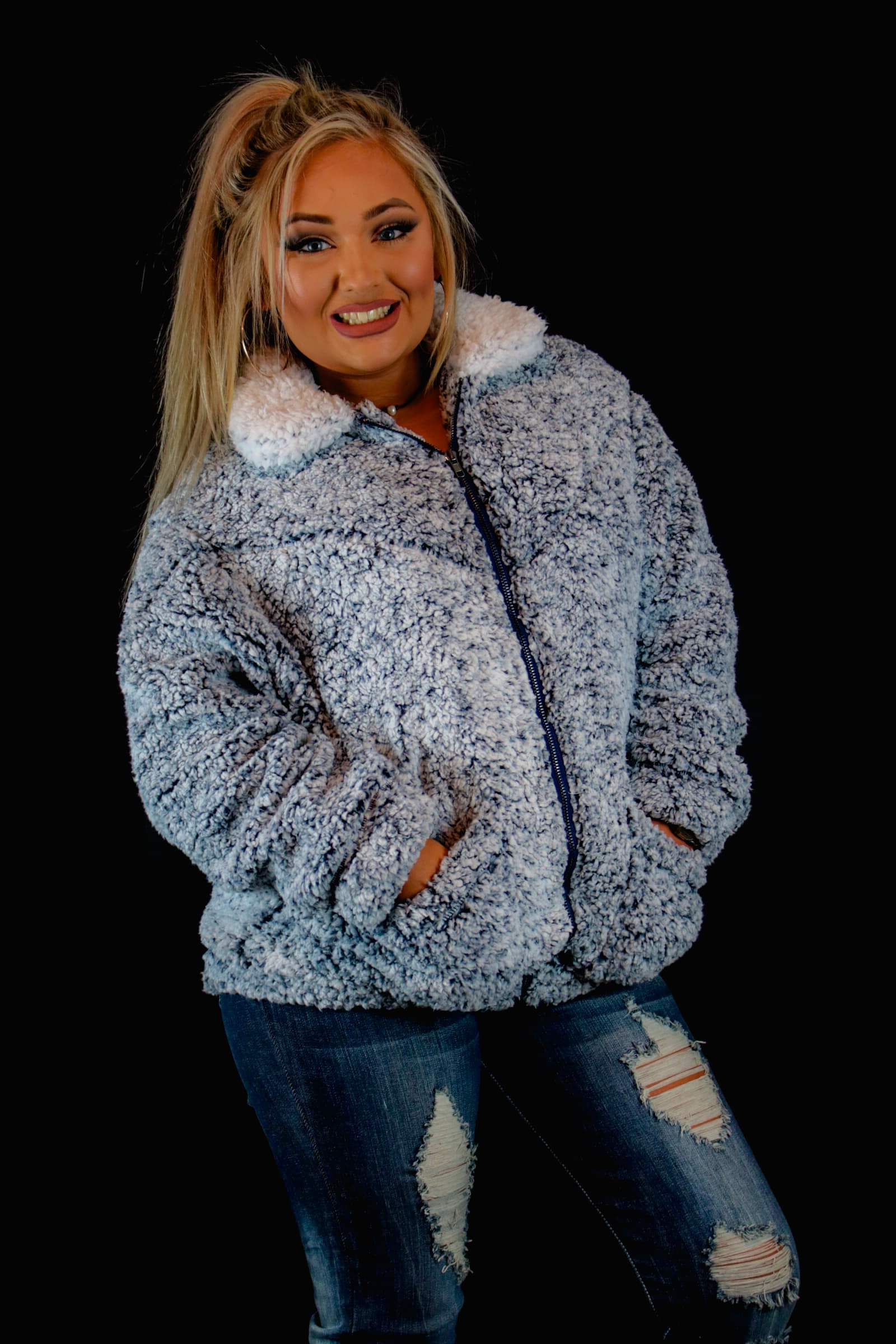 Cozy sherpa jacket