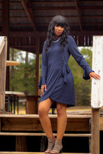 Navy long sleeve dress
