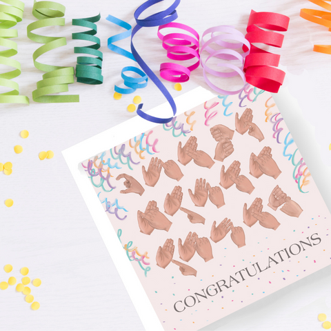 BSL Congratulations Card - Love Harry X