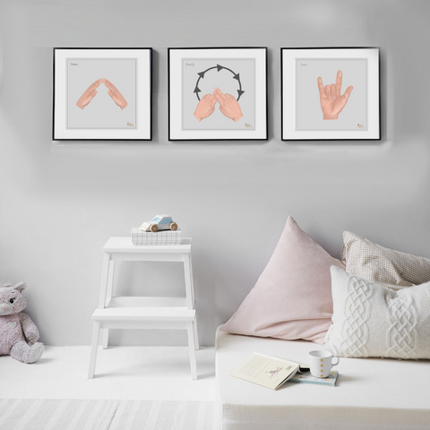 Home Family Love Sign Language Collection Prints - Love Harry X