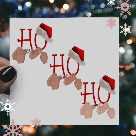 HO HO HO BSL Christmas Card
