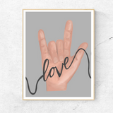 ASL Love Poster - Love Harry X
