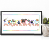 BSL Signed Name Print Rainbow - Love Harry X