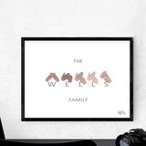 NEW - BSL Family name print - Grey Edition - Love Harry X