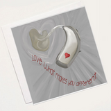 Hearing aid card - Love Harry X