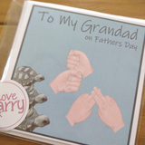 BSL Grandad card for Fathers Day - Love Harry X