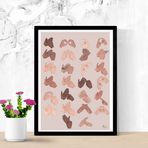 BSL Alphabet Print - Love Harry X
