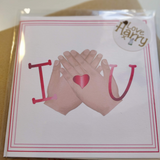 I love you BSL card - Love Harry X