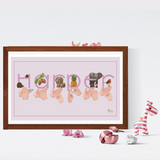 BSL Signed Name Print Pink - Love Harry X