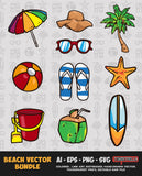 BEACH VECTOR BUNDLE FOR SALE