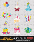 BIRTHDAY VECTOR BUNDLE FOR SALE