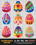 EASTER EGGS VECTOR BUNDLE FOR SALE