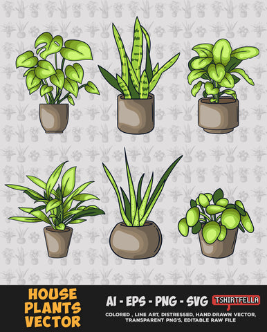 House Plants Vector Bundle FOR SALE
