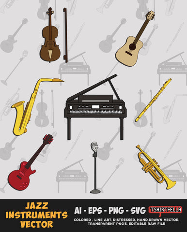 JAZZ INSTRUMENTS VECTOR BUNDLE FOR SALE