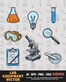 Lab Equipment Vector Bundle FOR SALE