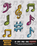 Musical Notes Vector Bundle FOR SALE