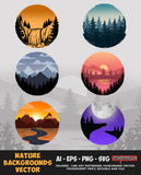 Nature Backgrounds Vector Bundle FOR SALE