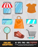 ONLINE SHOPPING VECTOR BUNDLE FOR SALE