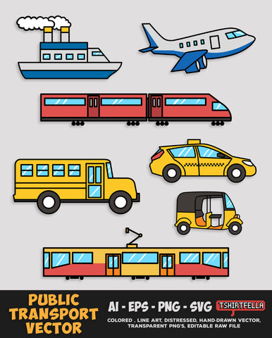 Public Transport Vector Bundle FOR SALE