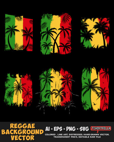 Reggae Background Vector Bundle FOR SALE
