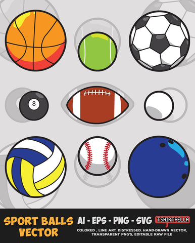 Sport Balls Vector Bundle FOR SALE