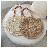 Shoulder Circle Straw Bags