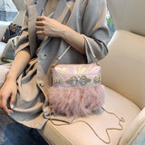 Winter feather handbag