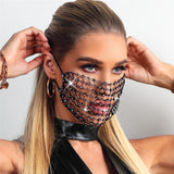 2020 New Luxury Mystic Black Crystal Decoration Mask  for Women