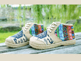 Embroidered National Boho Shoes