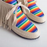 Handmade Rainbow Leather Boots