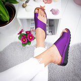 Women Leather Comfy Flat Sandals