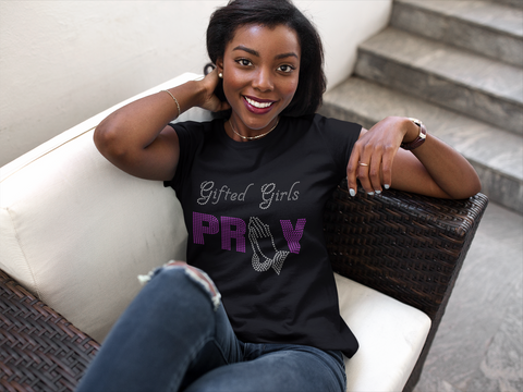 Gifted Girls Pray Bling Tee