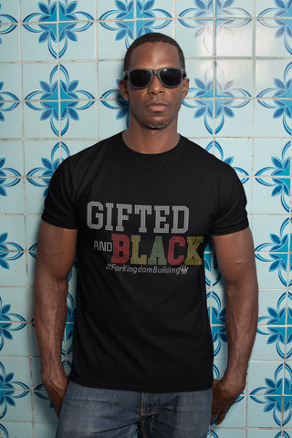 Gifted And BLACK - Men's Crew or V Neck Short Sleeve