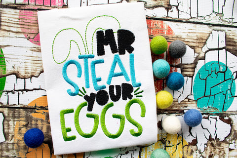 Mr Steal Your EGGS tee