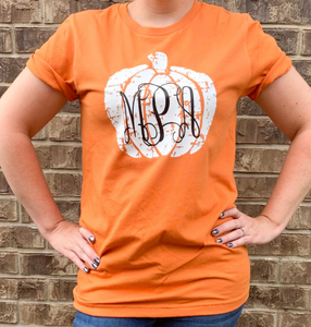 Distressed Pumpkin Shirt