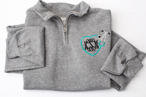 Nurse Monogram Quarter Zip
