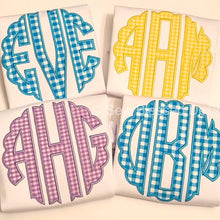 Load image into Gallery viewer, Gingham Monogram Shirts