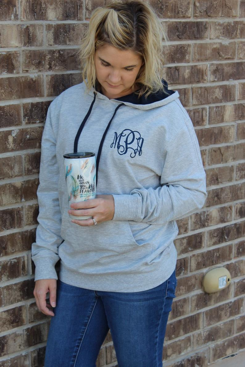 Monogrammed French Terry Hoodie