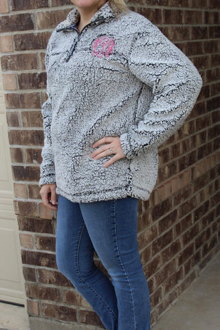 Adult Monogrammed Sherpa Pullover