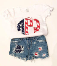 Load image into Gallery viewer, Patriotic Monogram SHIRT ONLY