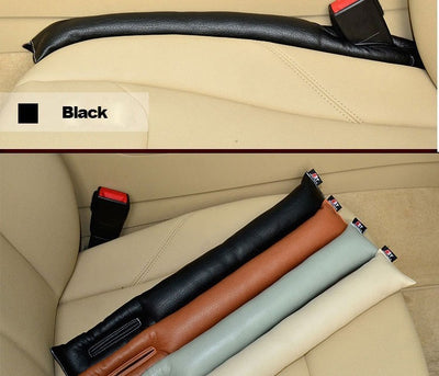 Leather cushion for seat gaps