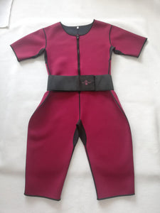Thermal Sweat Suit Ruby Red