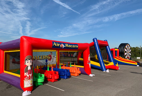 Inflatable games, air racer, soccer, inflatable baseball, skee ball