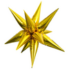Air-Filled Gold Star Burst Balloon Mylar