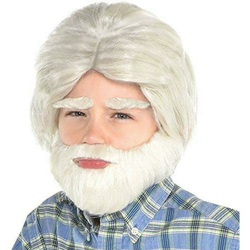 100th Day of School Grandpa Facial Hair Set 3pc