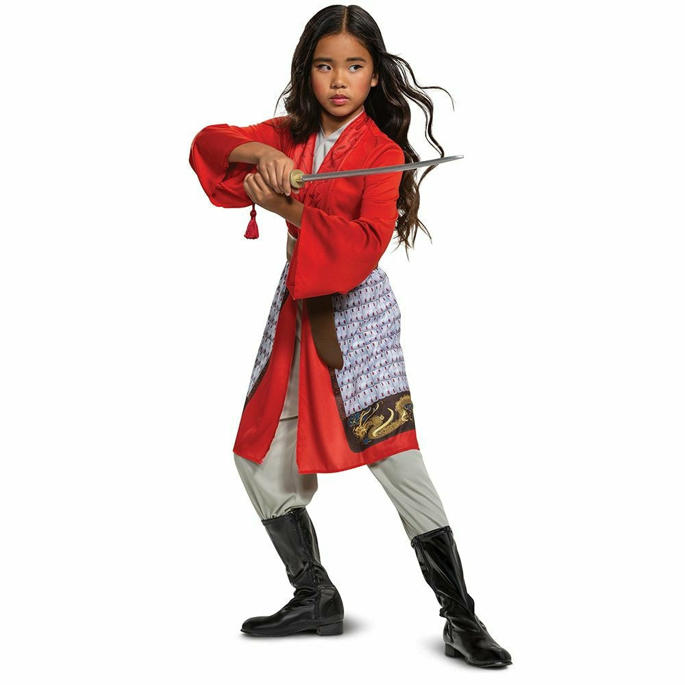 Girls Mulan Hero Red Dress Classic